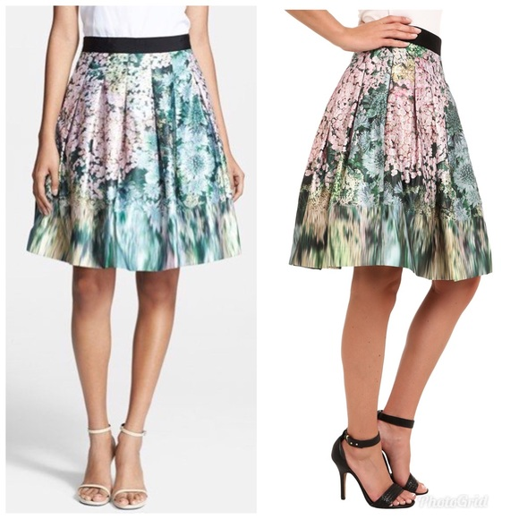 dad6b1e5d4 Ted Baker London Skirts | Ted Baker Glitch Floral Full Skirt Size 2 ...